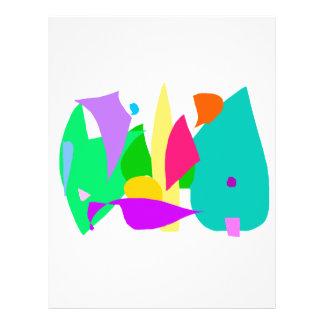 Fantasie-Traumtierkinderweich Grün Personalisierte Flyer