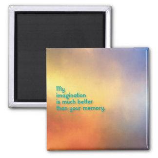 Fantasie-Trumpf-Gedächtnis-Magnet Quadratischer Magnet