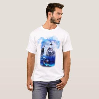 Fantasie-Wolf-Mond-Berg T-Shirt