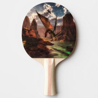 Fantasiedrache in den Bergen Tischtennis Schläger