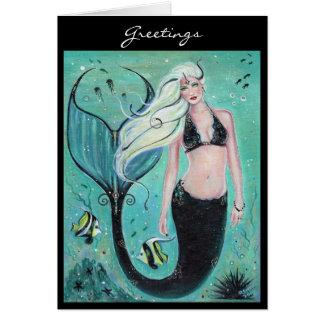 Fantasiekunstmeerjungfrau Grußkarte durch Renee Grußkarte