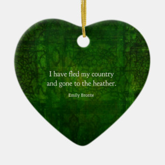 Fantasievolles Zitat Emilys Bronte - Sturmhöhe Keramik Herz-Ornament
