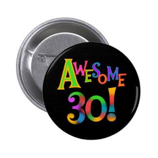 Fantastische 30 Geburtstags-T-Shirts und Geschenke Runder Button 5,7 Cm