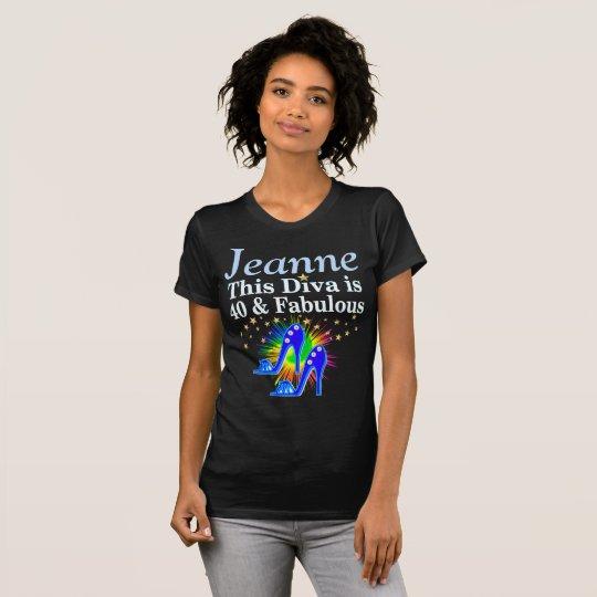 FANTASTISCHE 40 U. FABELHAFTES PERSONALISIERTES T-Shirt