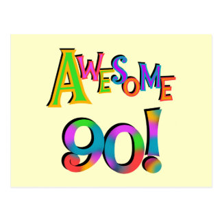 Fantastische 90 Geburtstag T - Shirts und Gifs Postkarte