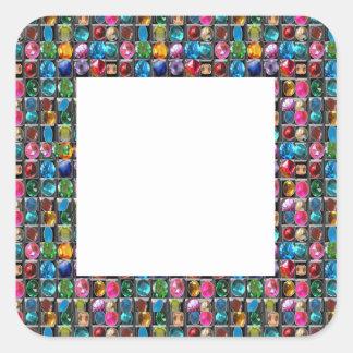 Fantastische Anmut: Quadratischer Aufkleber