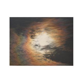 Fantastische farbige Wolken Holzposter