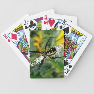 Fantastische Foto-Kugel-Spinne im Netz Bicycle Spielkarten
