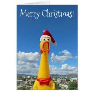Fantastische Huhn-Weihnachtskarte! Karte
