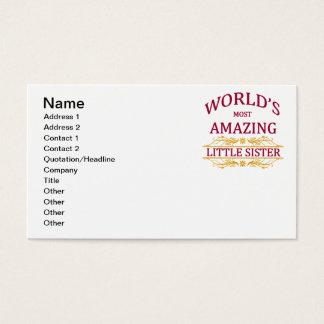 Fantastische kleine Schwester Visitenkarte