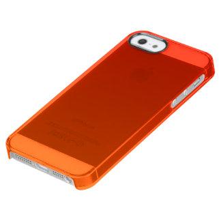 Fantastische Sonnenuntergang-Orange Durchsichtige iPhone SE/5/5s Hülle