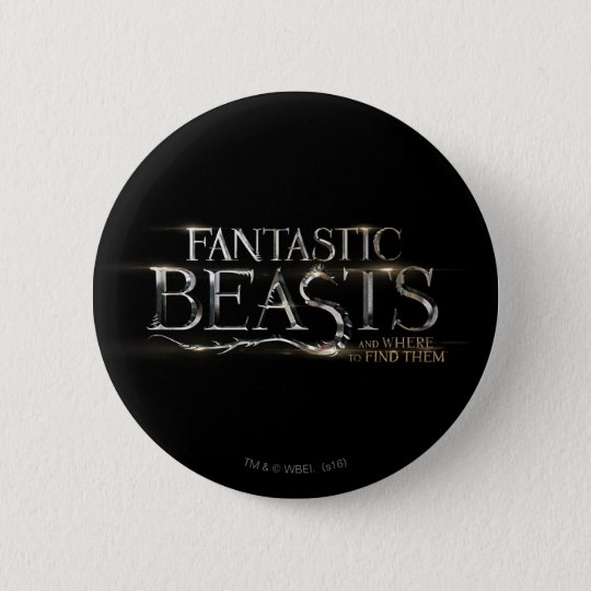 Fantastische Tiere und wo man sie Logo findet Runder Button 5,7 Cm