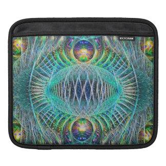 Fantastische Türkis Fraktal-Kunst iPad Sleeves