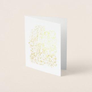 Fantastische WaldBlumen-Pilze Folienkarte