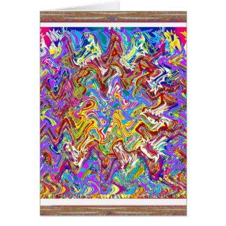 Fantastische Wellen-bunte abstrakte Kunst Karte