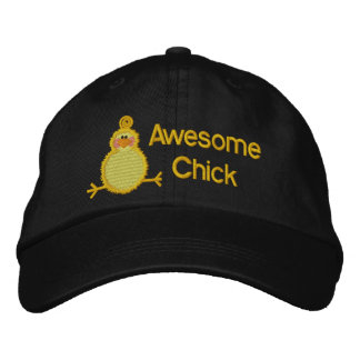 Fantastischer Küken-Hut Bestickte Kappe