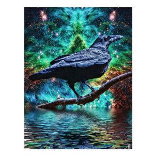 Fantastischer Nachtrabe Postkarte