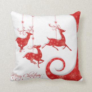 Fantastischer roter Weihnachtsentwurf Kissen