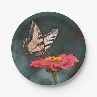 Fantastischer Schmetterling Pappteller