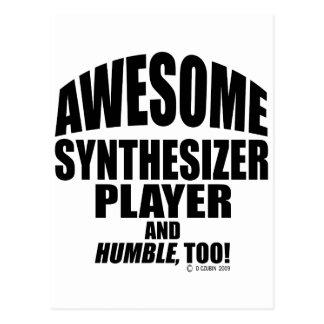 Fantastischer synthesizer-Spieler Postkarte