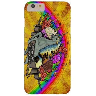 Fantastischer Überlastungs-Unicorn, Regenbogen u. Barely There iPhone 6 Plus Hülle