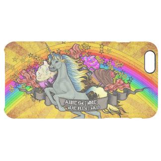Fantastischer Überlastungs-Unicorn, Regenbogen u. Durchsichtige iPhone 6 Plus Hülle