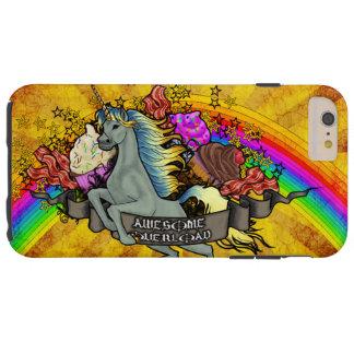 Fantastischer Überlastungs-Unicorn, Regenbogen u. Tough iPhone 6 Plus Hülle
