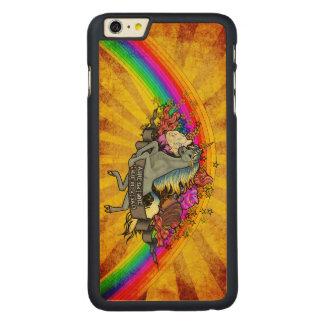 Fantastischer ÜberlastungUnicorn, Regenbogen u. Carved® Maple iPhone 6 Plus Hülle