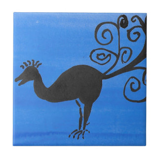Fantastischer Vogel Keramikfliese