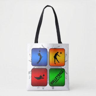 Fantastischer Volleyball-städtische Art Tasche