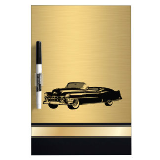 fantastisches goldenes Vintages altes Luxusauto Memoboard