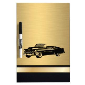 fantastisches goldenes Vintages altes Luxusauto Whiteboards