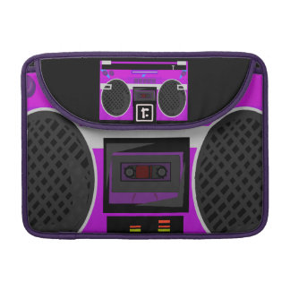 Fantastisches Retro lila Boombox Sleeve Für MacBooks