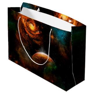 Fantastisches Universum mit Planeten und Sternen Große Geschenktüte