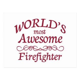 Fantastischste Feuerwehrmann der Welt der Postkarte