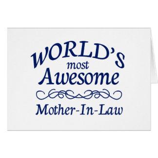 Fantastischste Schwiegermutter der Welt die Karte