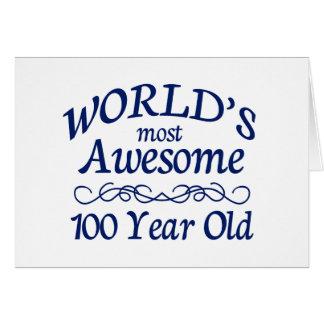 Fantastischsten 100 Jährigen der Welt die Grußkarte