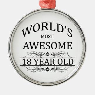 Fantastischsten 18 Jährigen der Welt die Silbernes Ornament