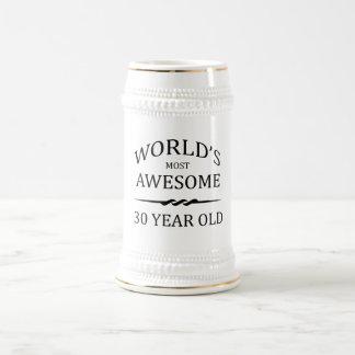 Fantastischsten 30 Jährigen der Welt die Bierglas
