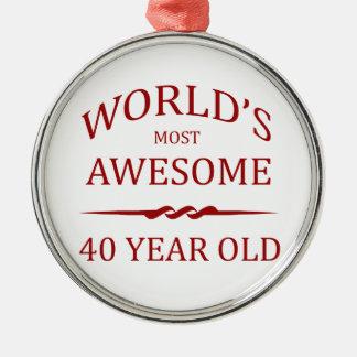 Fantastischsten 40 Jährigen der Welt die Silbernes Ornament