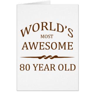 Fantastischsten 80 Jährigen der Welt die Grußkarte