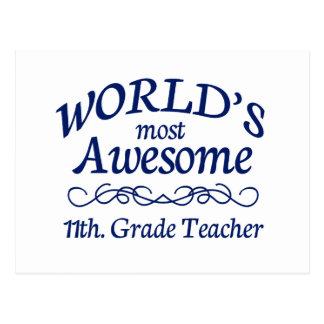 Fantastischstes 11. der Welt. Grad-Lehrer Postkarte