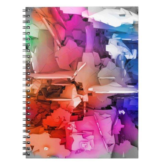 Farbabstrakte Kunst-Fragmente Spiralblöcke