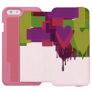 Farbblöcke, die Herzen schmelzen Incipio Watson™ iPhone 6 Geldbörsen Hülle