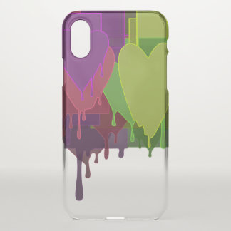 Farbblöcke, die Herzen schmelzen iPhone X Hülle