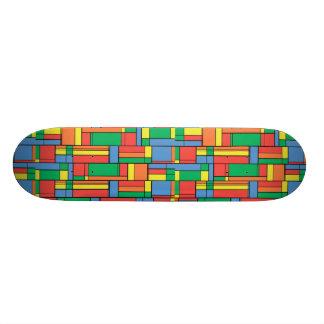 Farbblöcke Personalisiertes Skatedeck