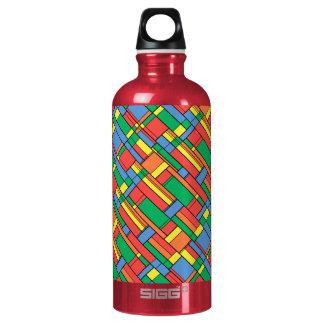Farbblöcke Wasserflasche