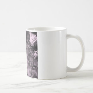 FarbBlume mit Schwarzweiss Kaffeetasse