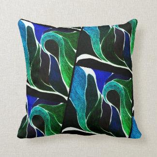FarbDrehungs-(dunkelblau/Grün) Kissen