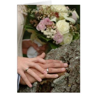 Farbe bitte sind Sie meine Brautjungfernhochzeit Karte